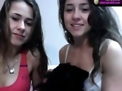Two cuties in free chat on webcam