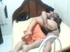 Big ass Arab girlfriend kisses her man and prepares for sex
