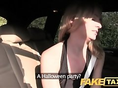 FakeTaxi Creampie ride for a cheerleader