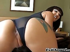 Cum hungry Asian sweetie with big ass gives sloppy blowjob on POV cam