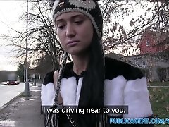 PublicAgent Russian babe takes cash and cock