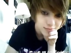 Cute emo bitch shows her boobs proudly on webcam