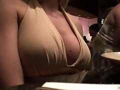 Amateur busty blondie Brooke shows her boobs on cam right at home