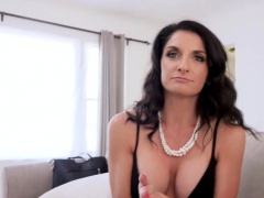 My frustrated busty stepmother blackmailed me