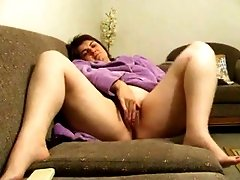 My horny obese wife loves to finger fuck her pussy on camera