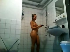 All wet wife of mine was caught on my hidden cam in the bathroom