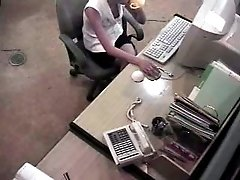 I caught my naughty secretary diddling her muff at the work place