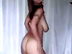 Incredibly curvy Bulgarian gf dances on camera for me
