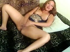 Voluptuous Latina mommy plays with huge dildo on webcam