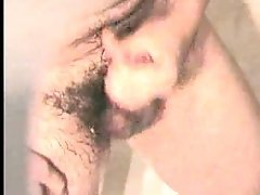 Hidden cam video of my horny hubby masturbating in the shower