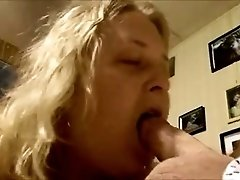 Aunt sucks not so large cock of my mate in bedroom on camera