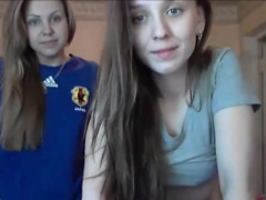 Super hot lesbian teens undressing on webcam