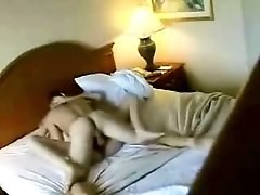 The hotel room camera filming two young people fucking