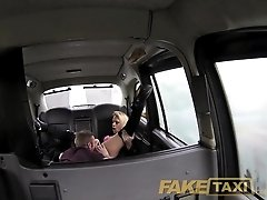 FakeTaxi Swingers couple get it on in back of cab