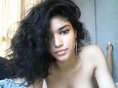 Cute Ebony Teen on Cam - BasedCamsCom