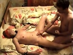 Fingering and fisting my blindfolded housewife on cam
