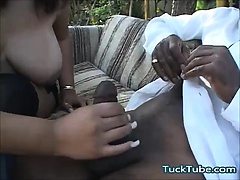 Beautiful Big Black Cock Blowjob