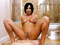 Voracious brunette Anissa Kate pleases Mark Wood on POV cam