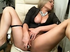 hot milf plays with every hole for cash cam masturbation