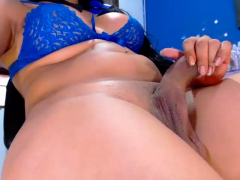 Latin MILF toying both holes and squirting