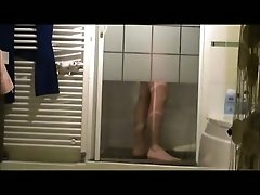 Wife's curvy sister takes shower after workout - hidden cam