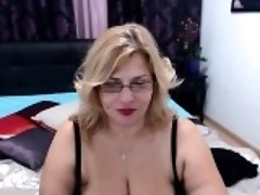 Chubby blonde nerdy chick has huge boobs and wants to show