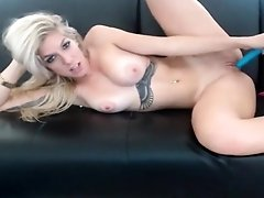 Sexy Blonde Babe Toying Herself