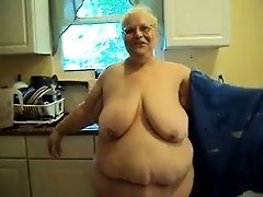 Disgusting BBW granny demonstrates her awful body on cam