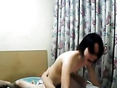 Pregnant Asian wifey gets her wet pussy fucked mish and rides dick on cam