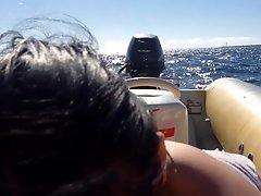 Jewish Arabic girl fucked on a speedboat