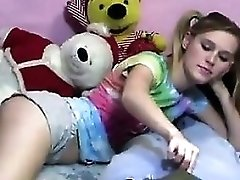Cutie With Pig Tails Jerking A Guys Cock
