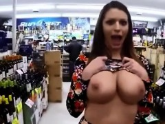 Horny slut flashing huge boobs and meaty pussy store