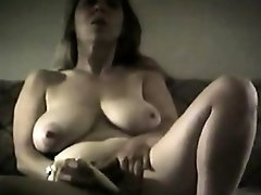 Big booby blonde milf teasing and toying in front of cam