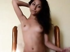 Petite Indian Desi Teen Masturbates Her Pussy On Chair