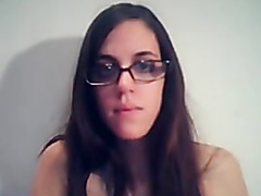 large breasts nerd on webcam