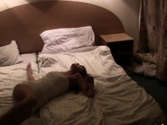 Asshole of babe filled in hotel room with big cock
