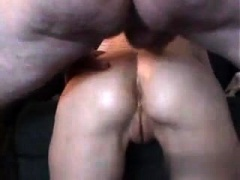 Gaping Wife Takes Anal Creampie