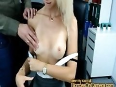 Blonde secretary abused by her boss