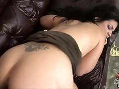 This brunette has a perfect succulent ass and she loves to fuck on camera