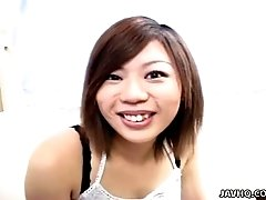 Smiling bitch Wakana Motoki shows her tits on cam with pleasure