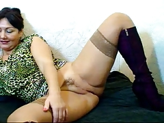 Russian hairy webcam mom