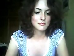 Really beautiful petite brunette on webcam playing with my mind
