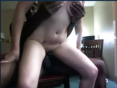 Interracial white girlfriend fuck Black boyfriend BBC cam