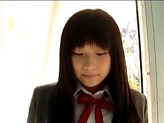 Sweet college girl Ayane Chika poses on cam wearing uniform