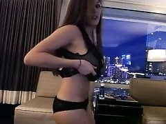 Cute hilarious and super hot amateur brunette played with her big boobies