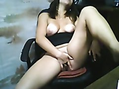 Short haired wild and voracious for orgasm brunette cam nympho masturbated