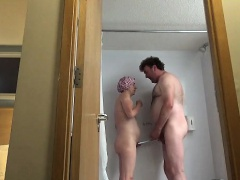 Couple Showering