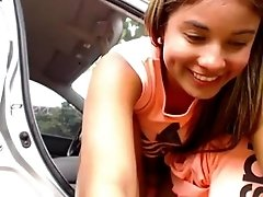 Babe Fucks Herself in Public Parking Lot - 77CAMS.COM