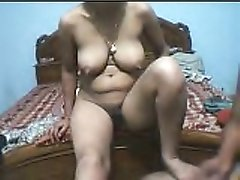 Busty amateur housewife gives head to her husband on cam