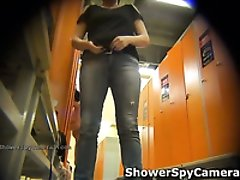 Nice spy video of hot chick getting naked in the locker room